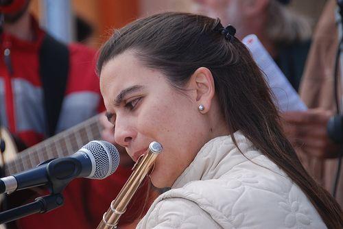 """En el Encuentro en Lo Alto (Farellones) junto al grupo """"Voces por el Señor"""" dirigido por Juan Pablo Soffia, marzo 2010"""