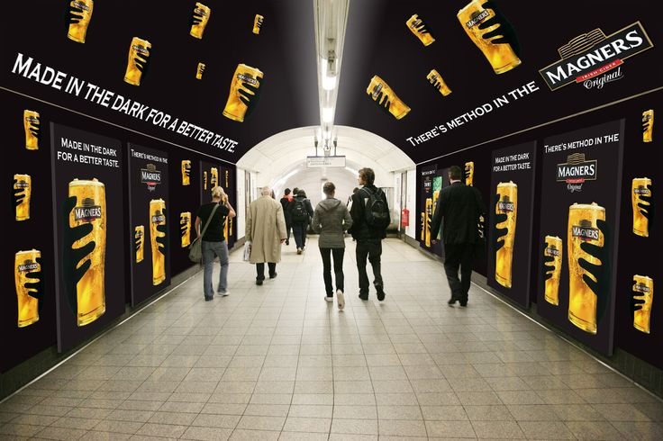 Happy Birthday London Underground! Magners 180° Outdoor Advertising at Oxford Circus London Underground