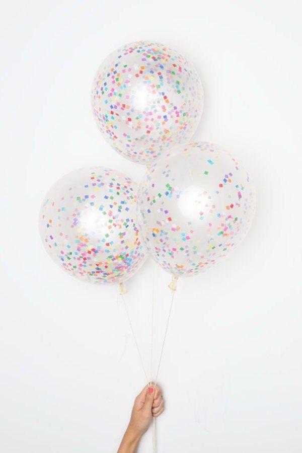 Square Confetti Balloons-Looks like sprinkles!