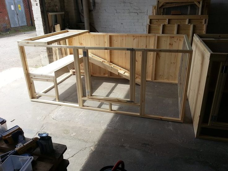 Indoor rabbit pen 2.5x1.5x1m with shelf and ramp.   Made in UK by Boyle's Pet Housing.