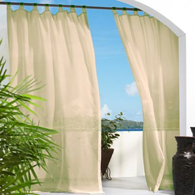 Escape Hook and Loop Tab-Top Outdoor Curtain Panel - jcpenney