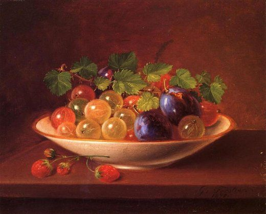 george forster still life with fruit painting