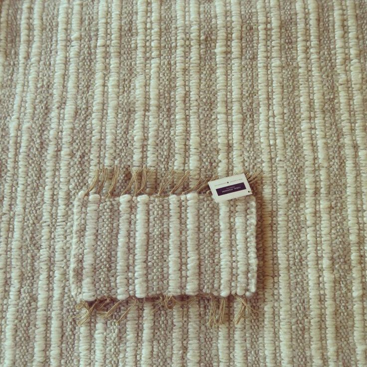 Two tone mohair ribbed carpet #naturalfibres #mohair #handwoven #rugs