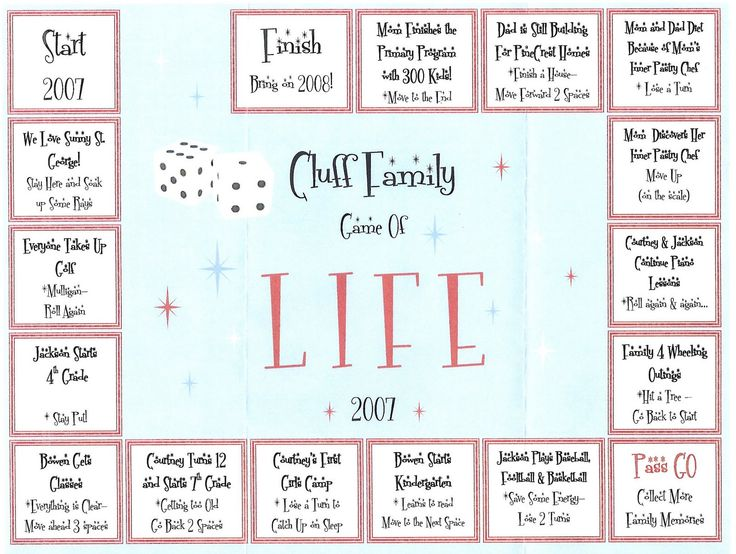 game of life christmas card... wish I would have seen this last year... can I do a mid year card :)