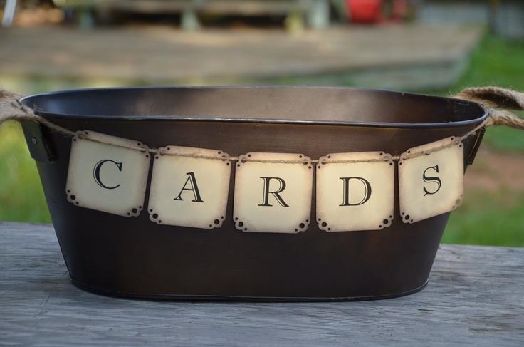 ADD diy <3 <3 http://www.customweddingprintables.com ... copper wedding card holder. $45.00, via Etsy.