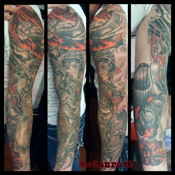 Ww2 paratrooper sleeve tattoos pinterest paratrooper for 1 2 sleeve tattoo