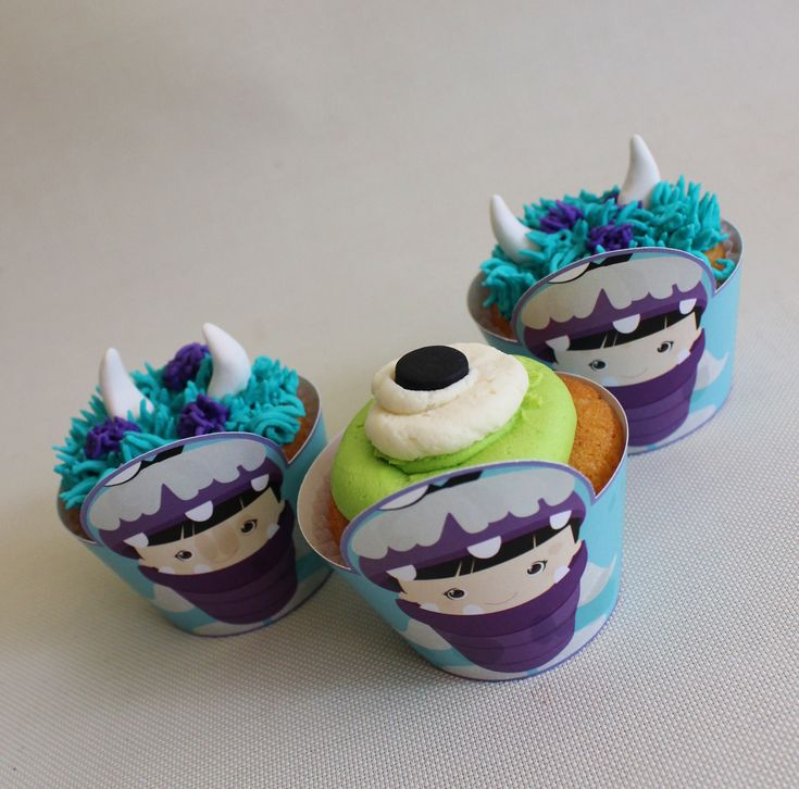 Monster Inc Cupcakes  Violeta Glace