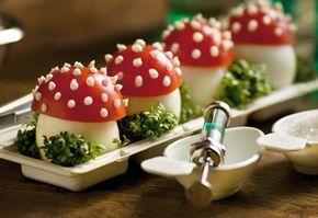 Giftpilze (Eier mit Tomatenhaube)