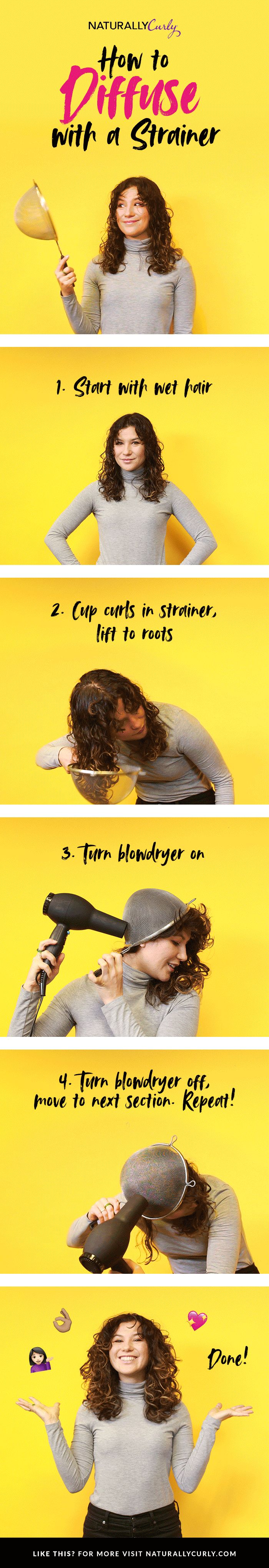 How to diffuse with a strainer!