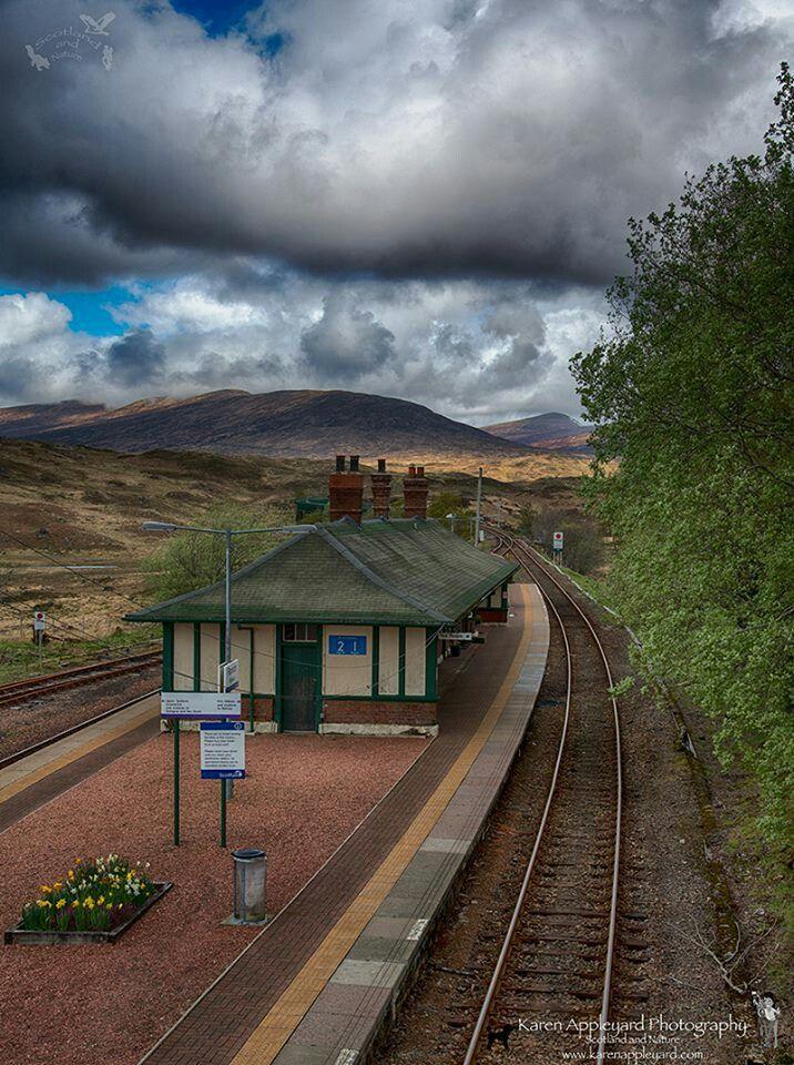 Rannoch Moor Train Station, Scotland