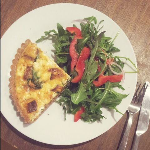 PoppyFox: Sweet Potato, caramelised onion and feta quiche {The Kitchen ...