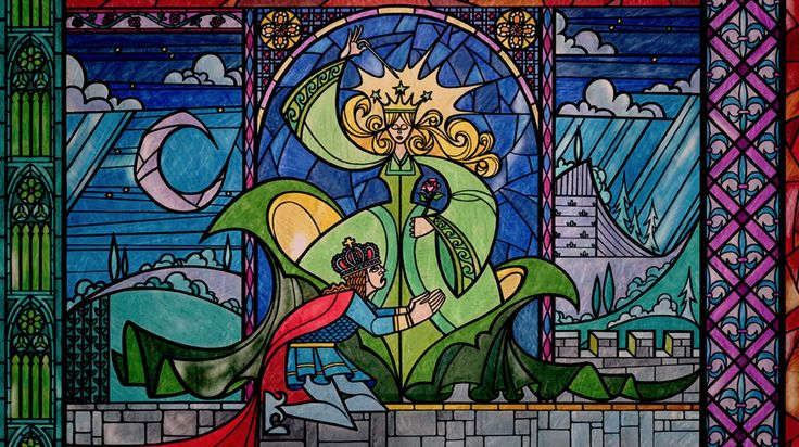 11 Things You Didn't Know About Beauty and the Beast | Whoa  I want this stained glass replica