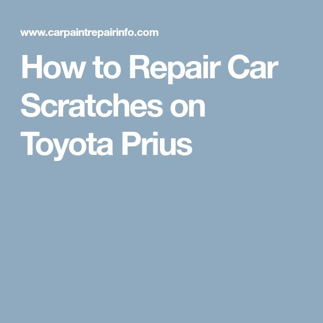 how to fix deep scratches in car paint