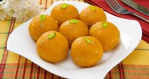 21)Laddu or Laddoo are ball-shaped sweets popular in the India Subcontinent. They are made of flour, minced dough, and sugar but the ingredients vary by recipe. They are often served at festive or religious occasions.