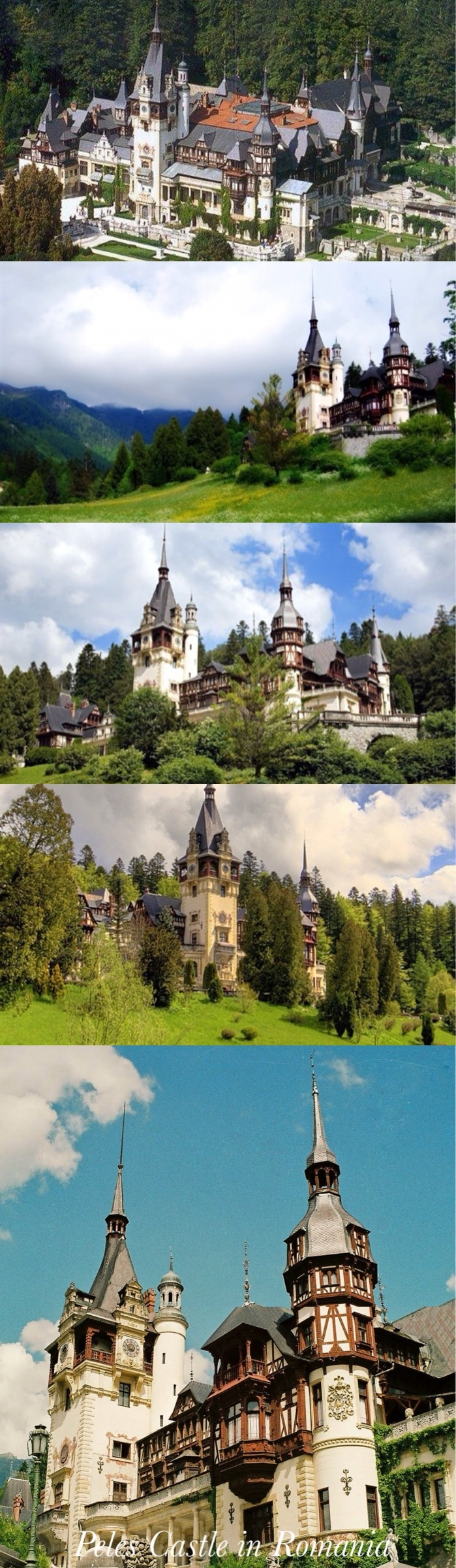 Sinaia, Romania - Peleș Castle is a Neo-Renaissance castle in the Carpathian Mountains, built by King Carol I of Romania on an existing medieval route linking Transylvania and Wallachia provinces.