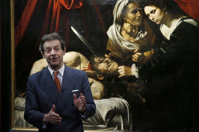 L'esperto Eric Turquin presenta in conferenza stampa il presunto Caravaggio ritrovato (photo credits: la Repubblica.it)
