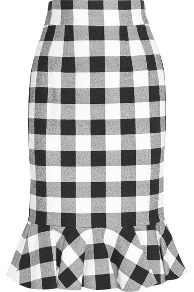 Dolce & Gabbana Gingham stretch-cotton skirt