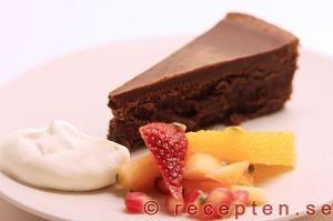 Recept på Lyxig chokladtårta