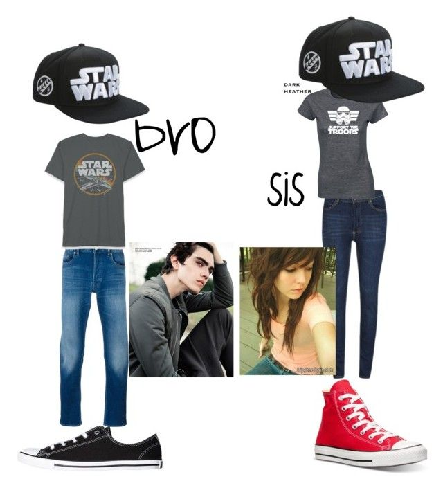 """Nerd siblings"" by arlisscrowley ❤ liked on Polyvore featuring Converse, STONE ISLAND, Cheap Monday and Disney"