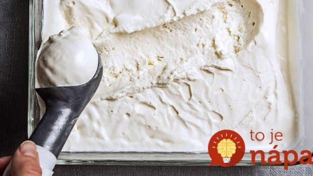 Domáca zmrzlina z 2 surovín
