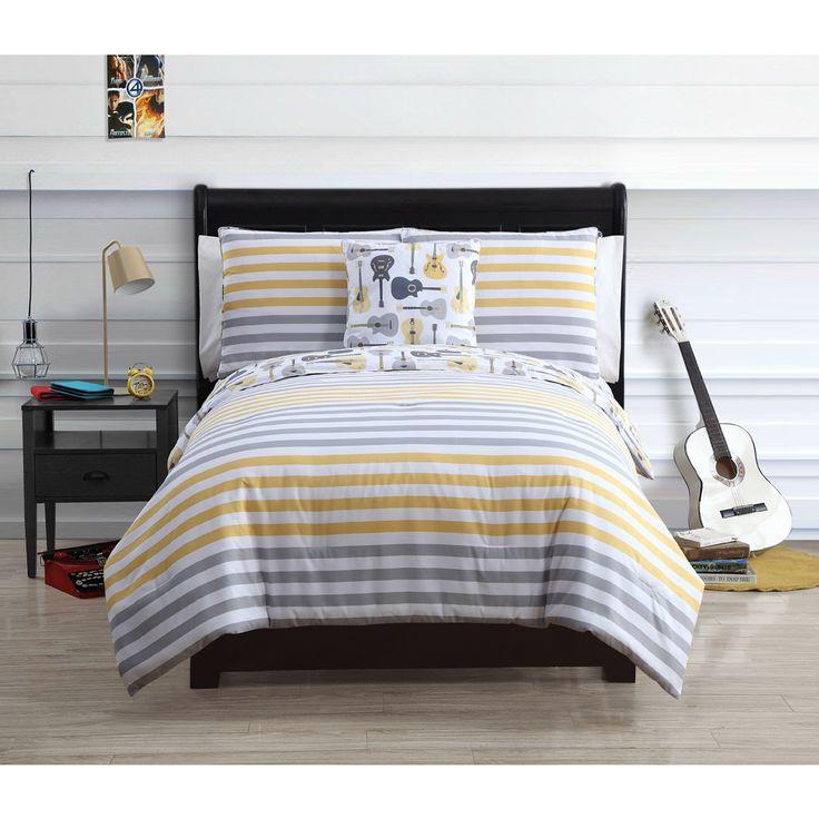 vcny kyle 4piece reversible cotton comforter set by vcny