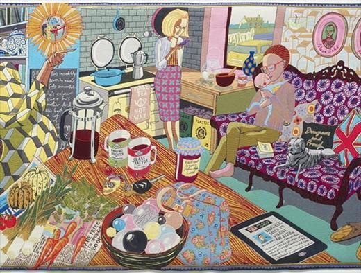 The Annunciation of the Virgin Deal, 2012, detail by Grayson Perry #art