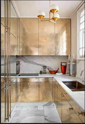 Designer Jean Louis Deniot.  Love the marble toe-kick, floor and backsplash, etc.  image credited to Jean Louis Deniot
