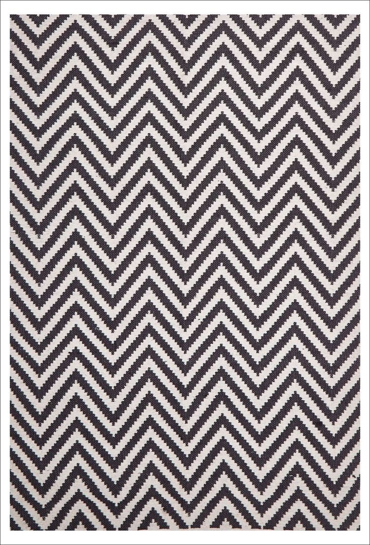 Modern Flat Weave Chevron Design Black Floor Rug. A beautiful patterned rug for your home. Available now at Rugs Of Beauty: https://www.rugsofbeauty.com.au/collections/chevron/products/modern-flatweave-chevron-design-black-rug?variant=18662836929