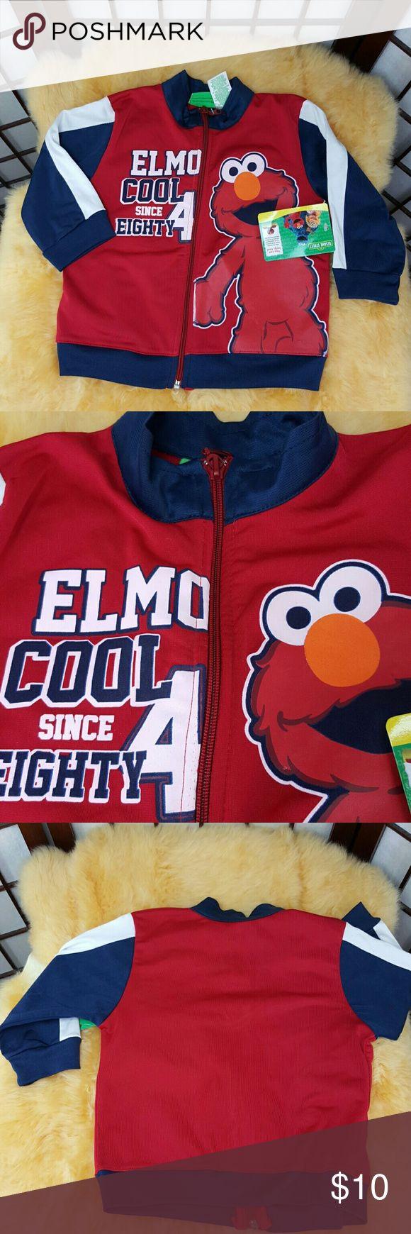 Elmo Cool Sesame Street Zip Up Jacket Sz 2T New with tags Sesame Street size 2T Elmo Cool since eighty 4 Red zip up jacket Made of 100% polyester Sesame Street Jackets & Coats