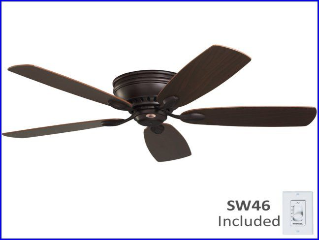 Flush Mount Classic Ceiling Fan Without Light