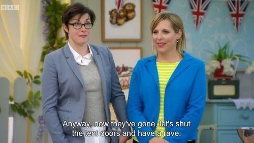 Great British bake off- best hosts