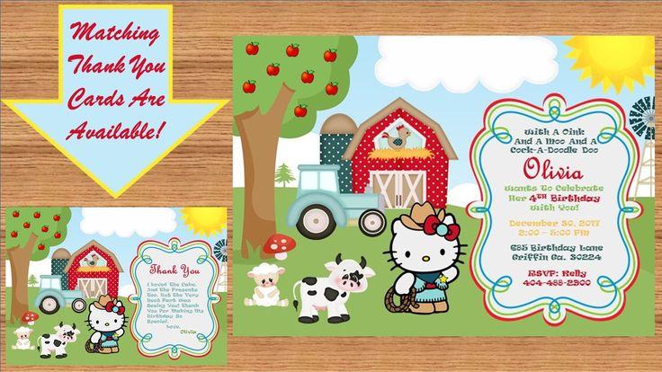 Hello Kitty Invitation, Hello Kitty Birthday, Hello Kitty Birthday Invitation, Hello Kitty Invite, Hello Kitty Party # Hello Kitty 00019 by kellylynn1973 on Etsy