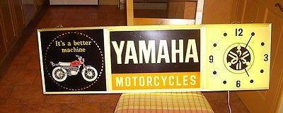 Yamaha Motorcycles lighted clock