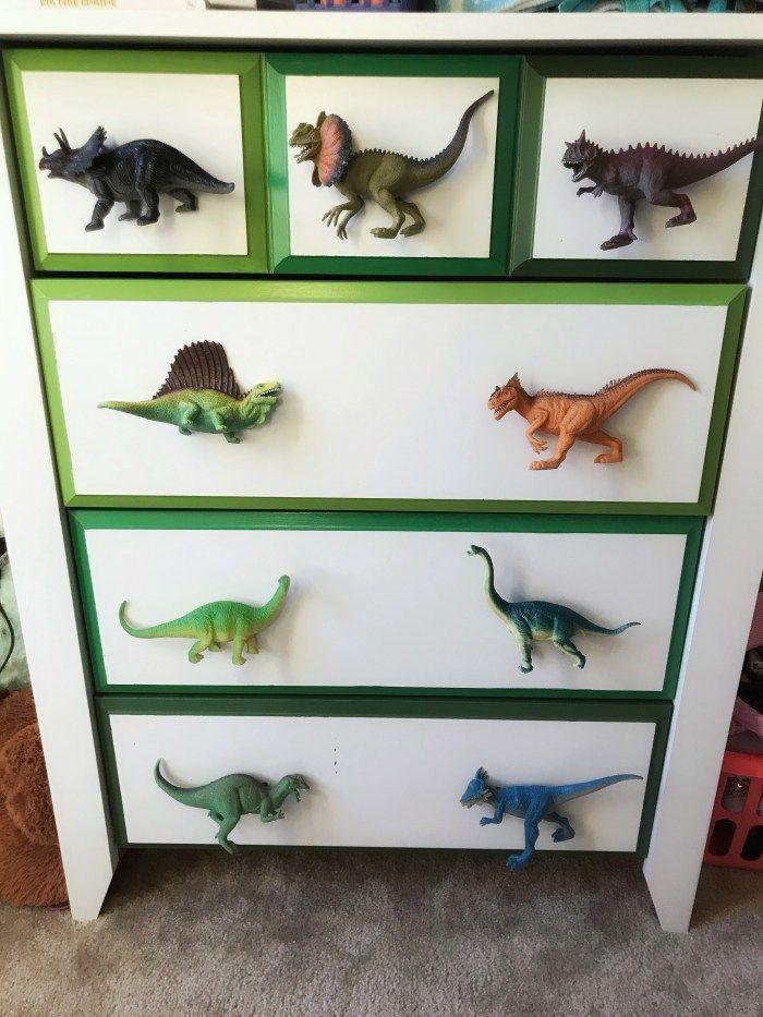 Dino Dresser Makeover Dinosaur Room Decor Kids Dressers Dinosaur Kids Room
