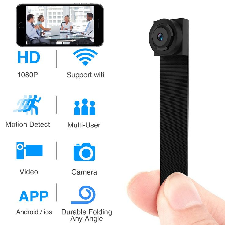 Hidden Spy Camera Wireless WiFi 1080P APP Mini Portable Covert Security Cam Motion Detection for iOS/Android Mobile Phone