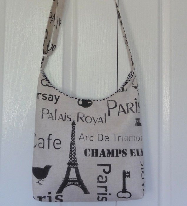 Paris Champs Elysees Cross Body Sling/Shoulder Bag - by OneBusySloth on madeit