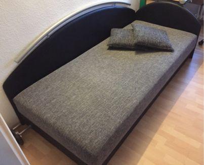 Polsterbett - Einzelbett - 90x200 - mit Bettkasten