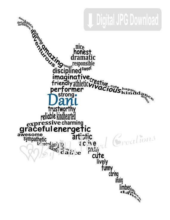 Dancer Word Art Hip Hop Dancer Lyrical Dance by ByMyWordCreations