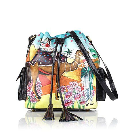 Sharif Limited Edition Leather Handpainted Bag