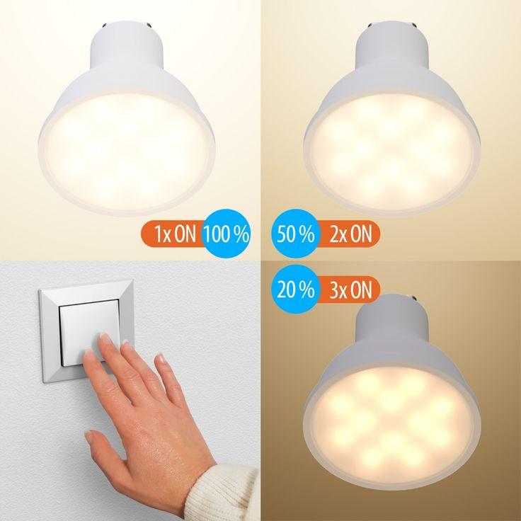 Gu10 Led Lampe 6 2w 45w Warmweiß A 100 3 Stufen Dimmen