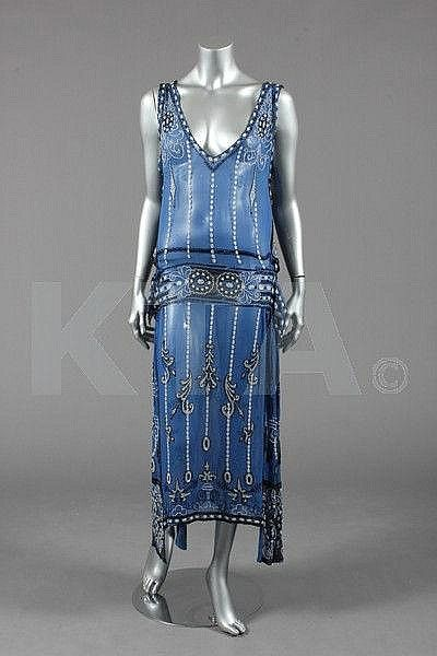 20s Dresses in Blue