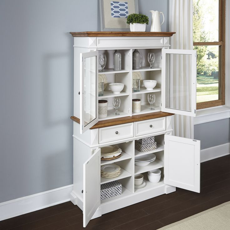 Home Styles Americana Buffet And Hutch 1060 Dining RoomCabinetWhite