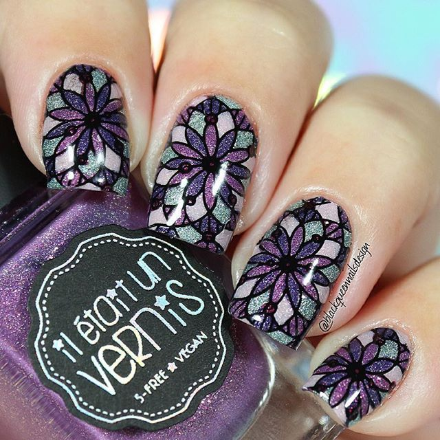 Instagram media by blackqueennailsdesign - Hi loves!! . New reverse stamping for today, I love the final result! I use following . Stamping Plat BM-S301 Festival Collection by @bundlemonster  #bundlemonster . Tales of Love collection by @iletaitunvernis  #iletaitunvernis . Mitty Dots @mitty_burns ✨(with my code ✨bqueen10✨ you can get 10% off in your orders at www.mitty.com.au) . Ya Qui An stamping polish @bornprettystorenailart (With my code FML91 you can get 10% off at ...