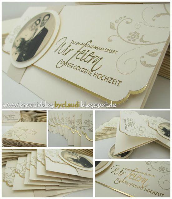 www.kreativblogbyclaudi.blogspot.de: Goldene Hochzeit