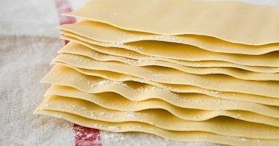 Masa de lasagna. Receta de Masa básica para lasaña. Receta para hacer la masa para la lasaña muy facil.-