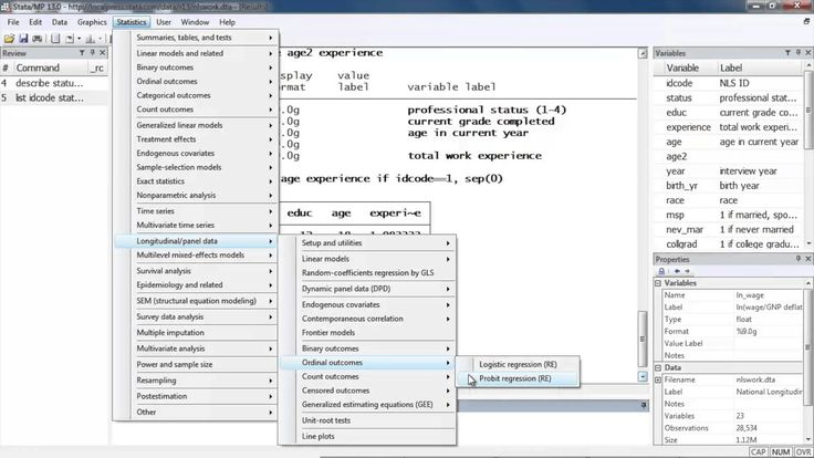 Ordered logistic and probit for panel data in Stata® - Chuck Huber - longitudinal - setting up but no interpretation.