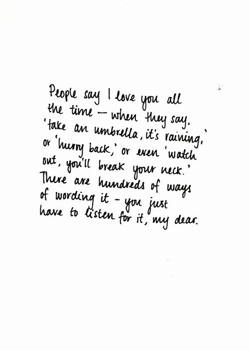 Funny Ways To Say I Love You Quotes : say