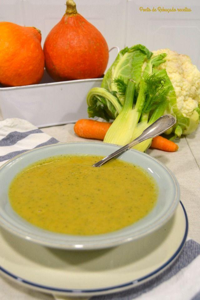 Ponto de Rebuçado Receitas: Sopa de legumes assados e funcho