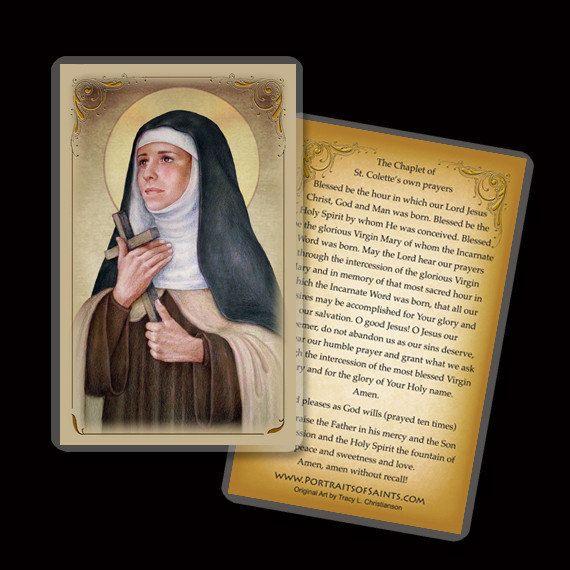 St. Colette Holy Card/ Prayer Card Patron by PortraitsofSaints