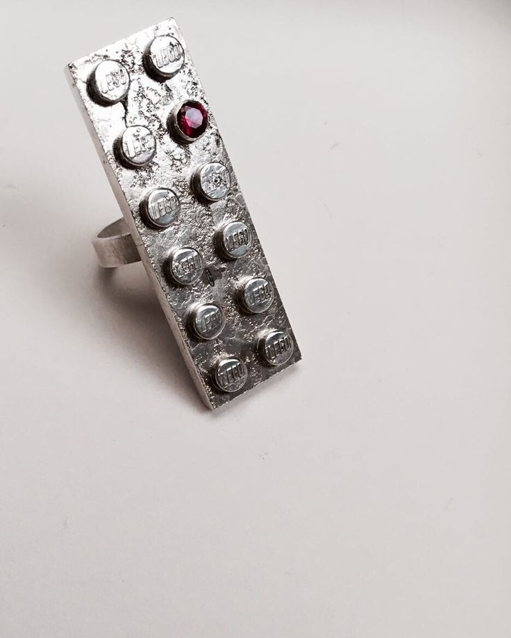 Lego series, silver, ring.